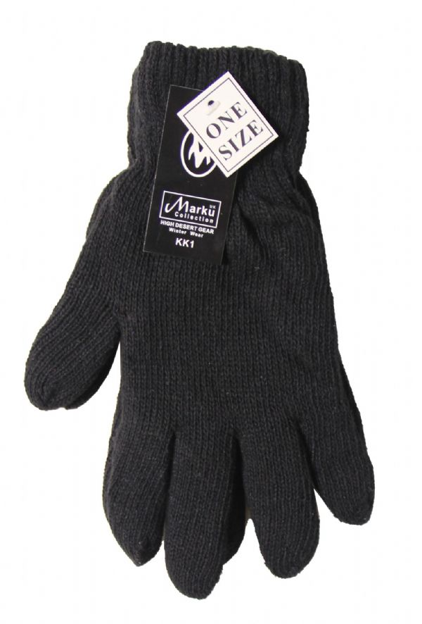 Men Thick knitted Gloves insulated S138-GL6123